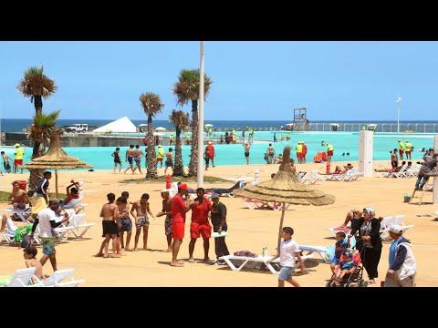 RABAT Piscine إفتتاح أكبر مسبح بحري الثالت عالميا والاول إفريقيا