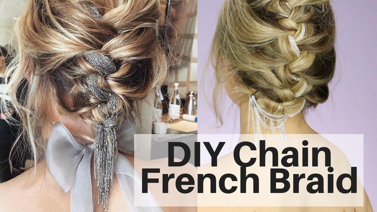 diy chain french braid - hair