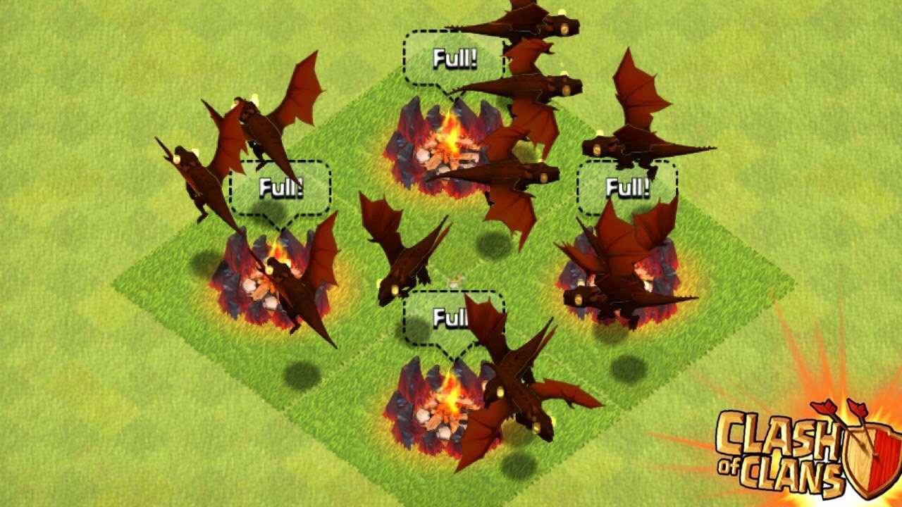 Coc how to defeat the level 4 dragon in clan castle and win the