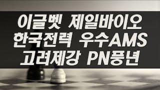 이글벳 제일바이오 한국전력 우수AMS 고려제강 PN풍년…