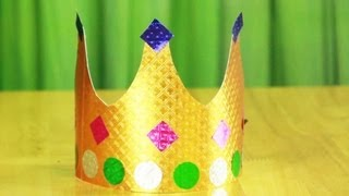 how to make paper crown