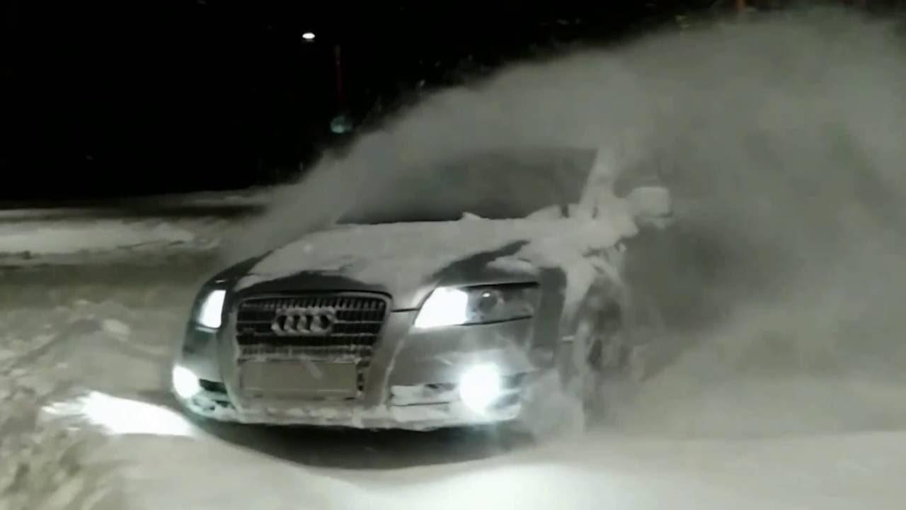 Audi A6 C6 Allroad 30tdi Quattro Snow Drifting Youtube