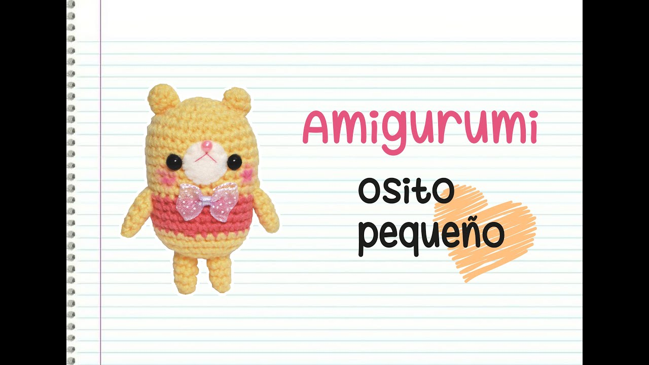Amigurumi: Osito mini - YouTube