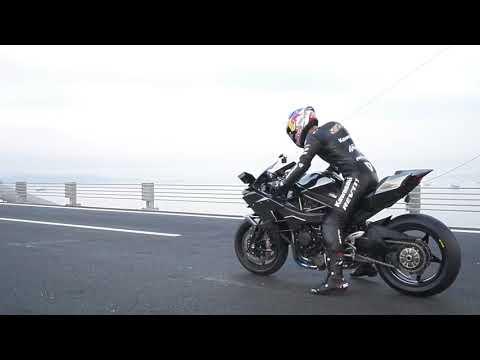 Рекорд скорости Kawasaki Ninja H2R: 400 км\ч на мосту Osmangazi