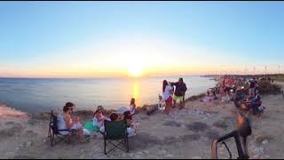8K 360 Degree Sunset in Bozcaada,  Polente Lighthouse Insta360pro
