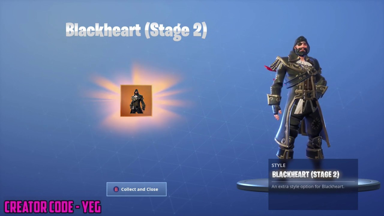 How Old Is Blackheart Fortnite New Unlocking Stage 2 Blackheart On Fortnite Battle Royale Season 8 Youtube
