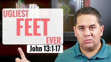 Jesus washing his disciples' feet. John 13:1-17