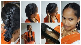 Easy And Simple / Twin Ribbon / Hairstyles For Schoolgirl Days
