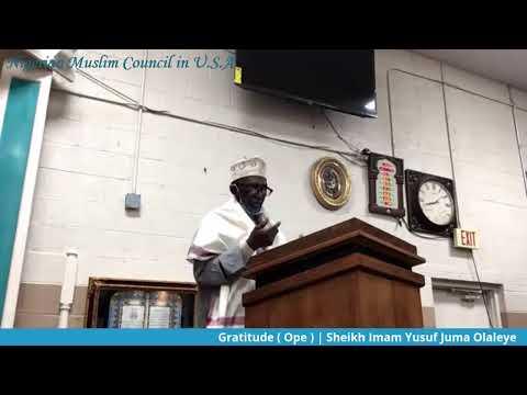 Jumah Khutbah | Chief Imam Yusuf Juma Olaleye