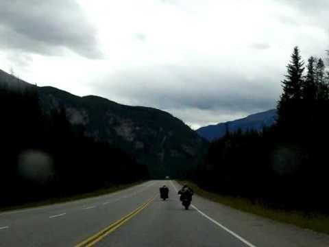 Yoho National Park: Field, Emerald Lake, Golden, BC time lapse drive