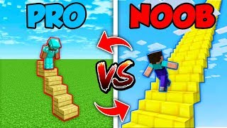 Minecraft NOOB vs. PRO : SWAPPED STAIRCASE in Minecraft (Compilation)