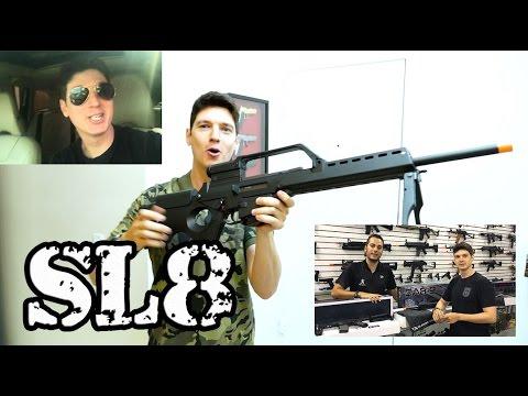 Sniper Ou DMR? SL8 Na Tryvendas! -  Luiz Rider Airsoft Brasil