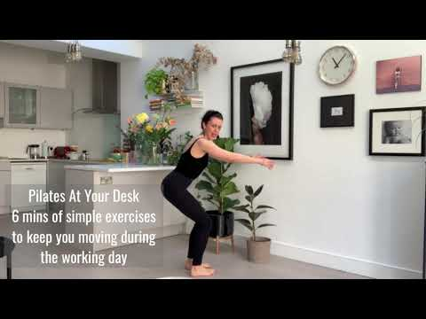 Stretch At Your Desk 6 mins of standing strengthening & stretching exercises to do at home.