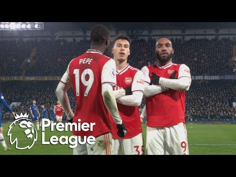 Gabriel Martinelli scores equalizer for 10-man Arsenal against Chelsea | Premier League | NBC Sports