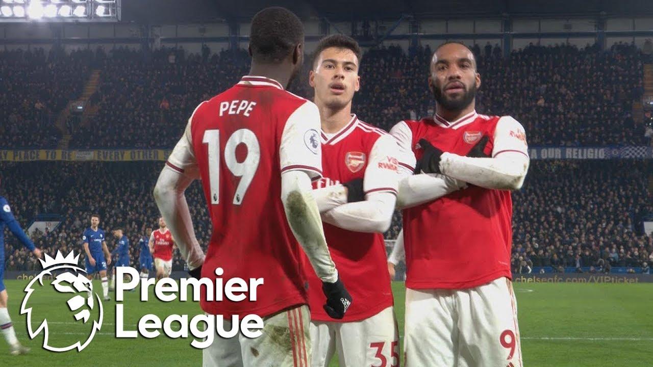 Download Gabriel Martinelli scores equalizer for 10-man Arsenal against Chelsea   Premier League   NBC Sports