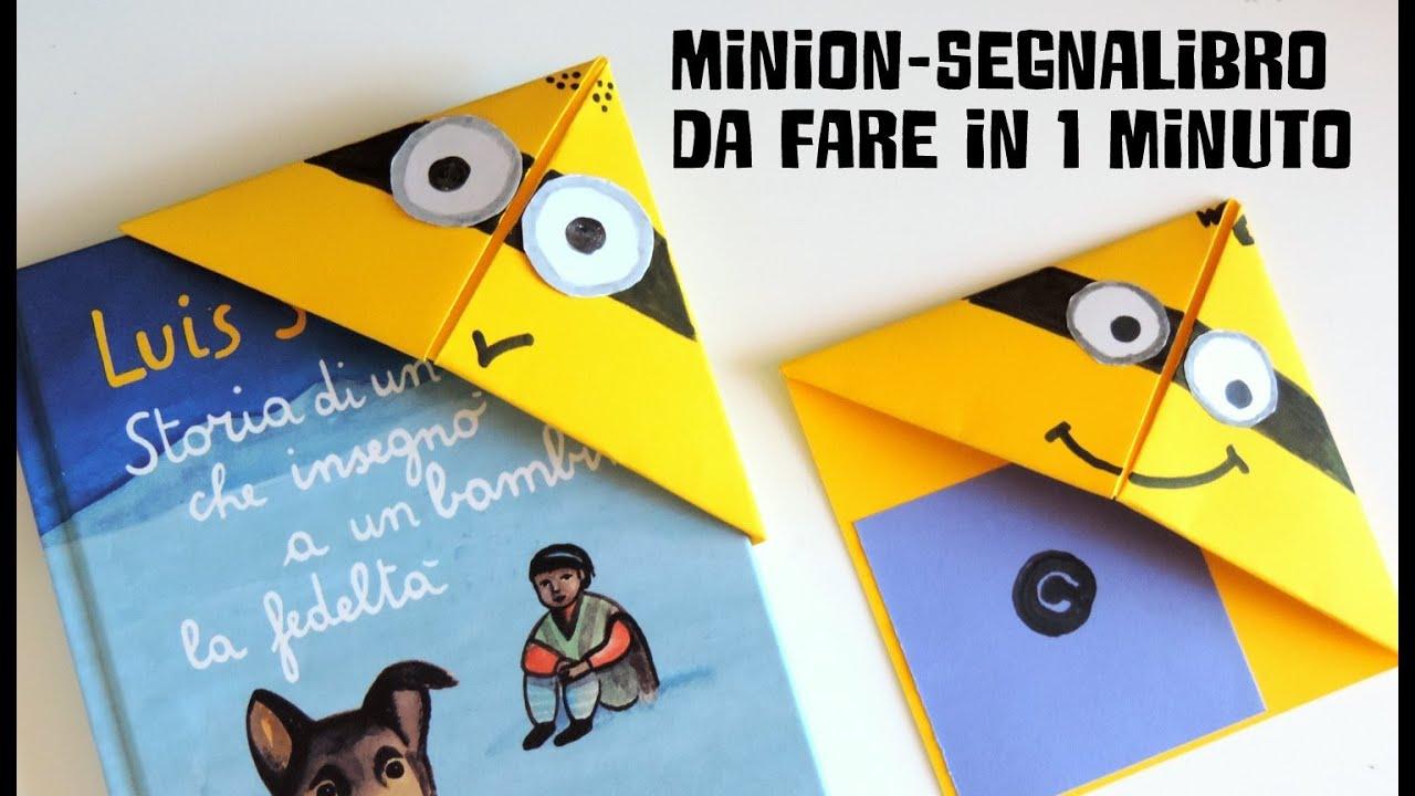 abbastanza Origami: segnalibro minion - YouTube OY59