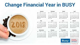 Change Financial Year in BUSY - English