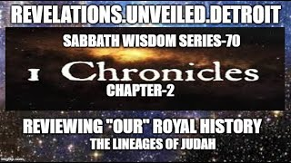 "Sabbath WISDOM Series: 70 Pt. 1.  The LINEAGES of JUDAH (""Our"" Royalty)."