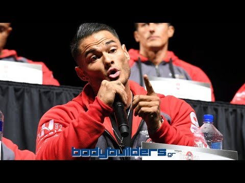 Jeremy Buendia Heated Exchange At The 2017 Olympia Press Conference