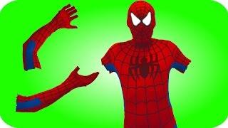 Spiderman Loses His Hands! w/ Frozen Elsa & Anna, Pink Spidergirl, Superman, Joker & Popcorn :)