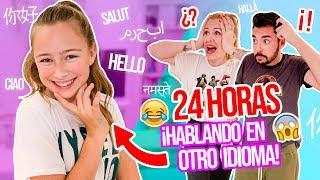 24 HORAS HABLANDO en INGLÉS a mis PADRES 😂¡NO SE ENTERAN DE NADA! | Elashow