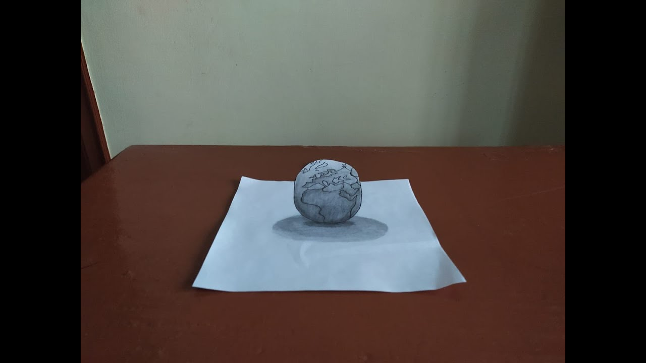 Globe 3D View || pencil sketch || How to draw Globe
