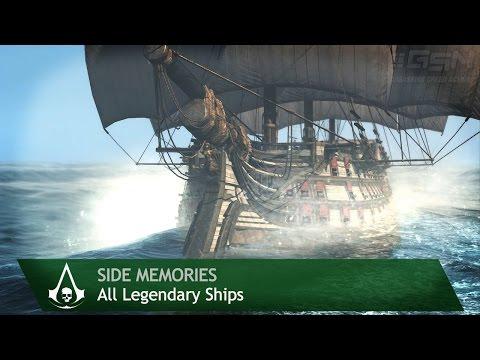 Assassin's Creed 4: Black Flag - Side Memories - All Legendary Ships