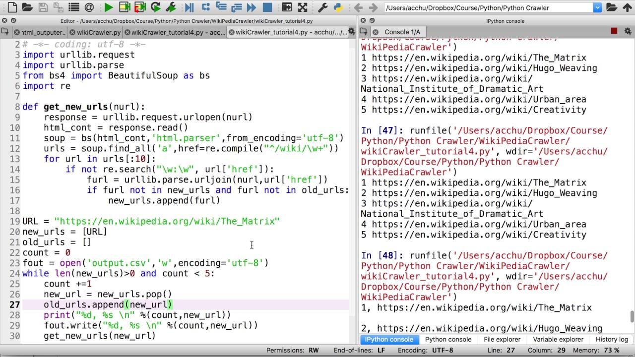 Python 網頁基礎爬蟲4:寫入檔案 - YouTube