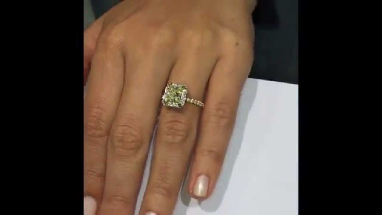 Princess Cut Diamond Wedding Rings