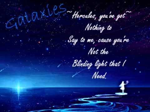 Nightcore - Galaxies ( With Lyrics )