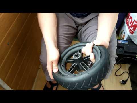 Разбортирование колеса самоката Xiaomi Mijia Scooter M365