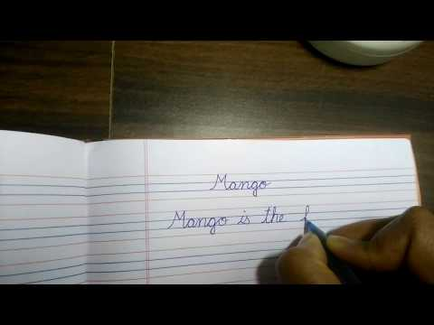 How to write few lines about mango for small kids