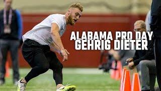 Watch Gehrig Dieter at Alabama Pro Day