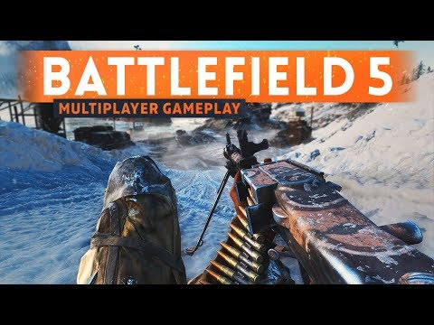 BATTLEFIELD 5 MULTIPLAYER GAMEPLAY - Fortifications & Destruction