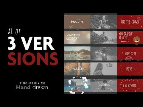 Lyrics and elements after effects template youtube for After effects lyric video template