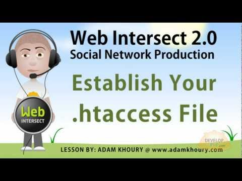 4. Establish htaccess and php.ini for apache web site server configuration tutorial Travel Video