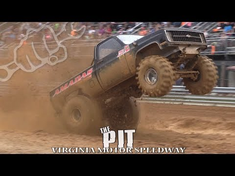 MUD TRUCKS BOMB THE PIT at VIRGINIA MOTOR SPEEDWAY
