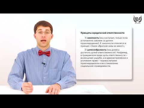 Обществознание (ЕГЭ). Урок 28. Правонарушение. Юридическая ответственность.