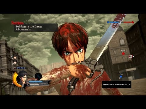 Attack On Titan Wings Of Freedom Eren Online Battles #4 Dlc Missions 99+Perfected Gear Gameplay