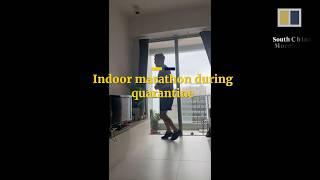 Running an indoor marathon during coronavirus quarantine