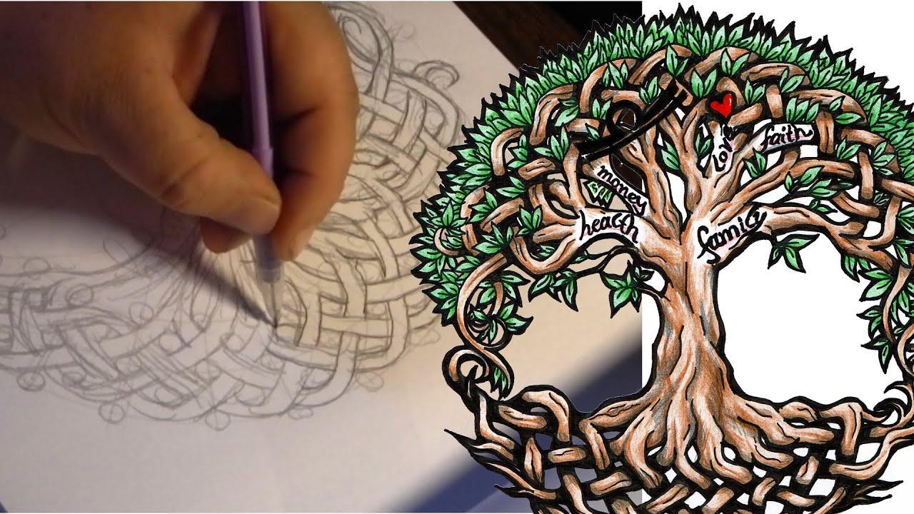 Jennifershoop Tree Of Life Nordic Tattoo Thors Hammer Norse