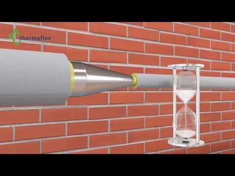 Монтаж трубной теплоизоляции Thermaflex. Теплоизоляция редукции