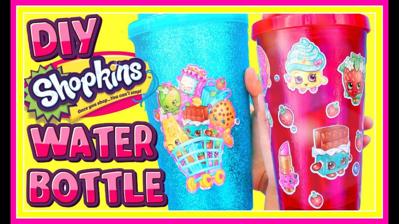 Diy Water Bottle Diy Shopkins Glitter Water Bottle Easy Diy Back To School Youtube