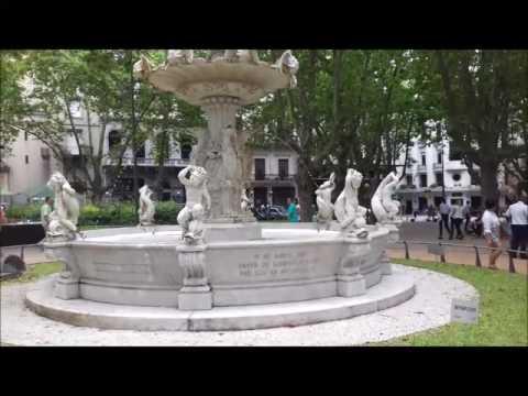 Cidade Velha de Montevidéu, comércio de rua e praça