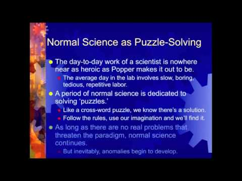 Thomas Kuhn on Normal Science (Lecture 7, Part 1 of 2)