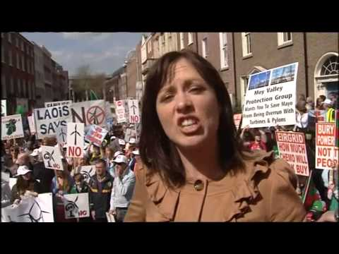 Energy Protest March, Dublin 15/04/14 via TV3