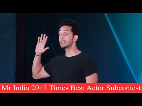 Peter England Mr India 2017 Times Best Actor Subcontest