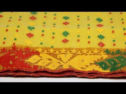 Yellow Dhakai Jamdani Saree Review By Chander Bari Online Shop
