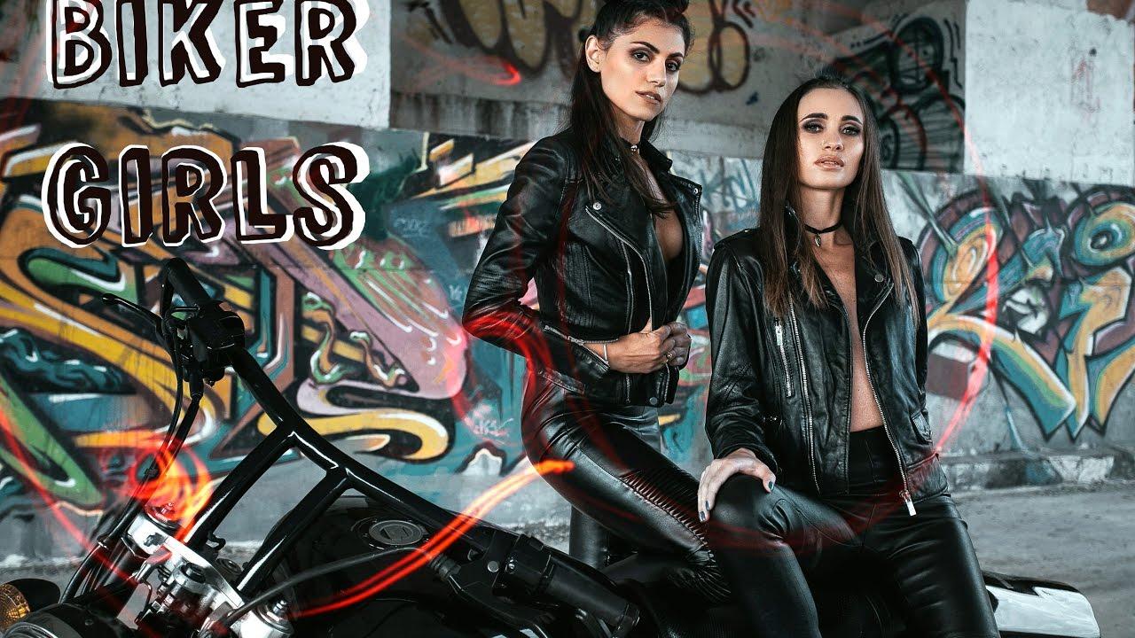 Девушки на байке // Макияж и фотосессия в байкер-стиле // Beauty with Dianatadi