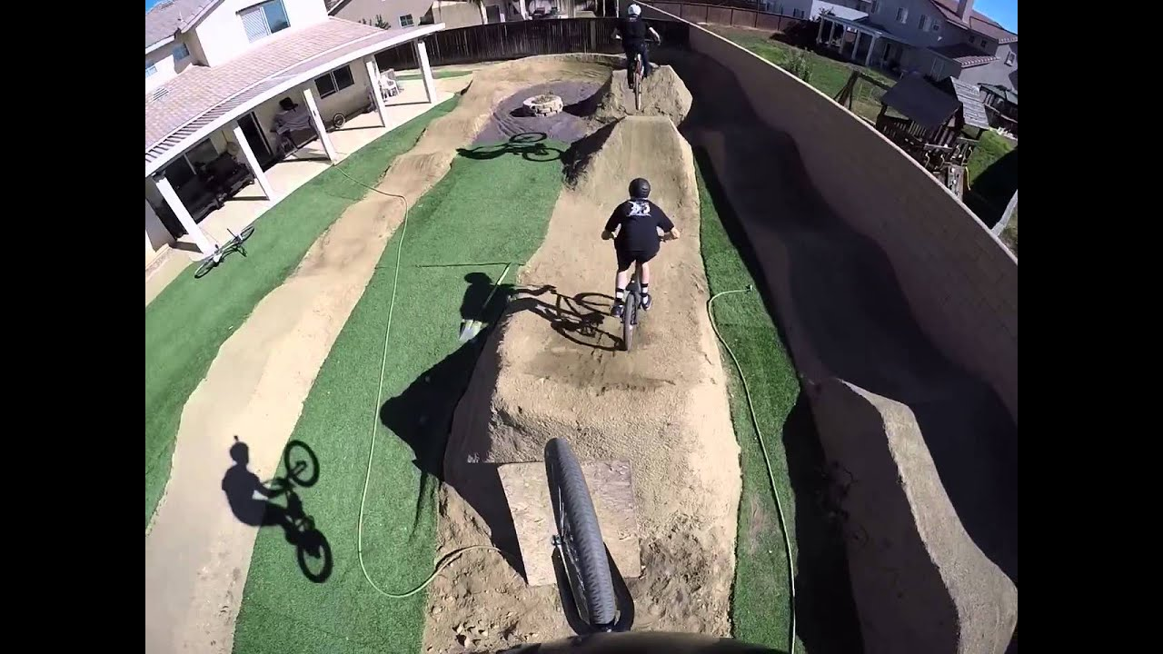 Backyard Pumptrack backyard pump track/trails (pov) - youtube